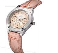 Men's Women's Fashion Watch / Quartz Leather Band Casual Pink