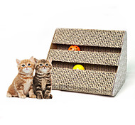 Cat Toy Pet Toys Interactive Scratch Pad Paper Beige