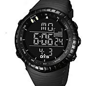 Unisex Sport Watch Digital Japanese Quartz LED Water Resistant / Water Proof Stopwatch Plastic Band Casual Luxury Black Green KhakiArm