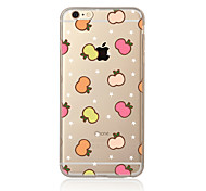 Para Transparente Estampada Capinha Capa Traseira Capinha Fruta Macia TPU para AppleiPhone 7 Plus iPhone 7 iPhone 6s Plus/6 Plus iPhone