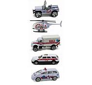 Ambulance Vehicle Vehicle Playsets 1:64 Metal Plastic Rainbow