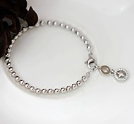 Strand Bracelet Sterling Silver Fashion Jewelry Silver Jewelry 1pc