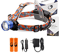 U'King® ZQ-X830BL#1-EU CREE XML-T6 LED 2000LM Zoomable 180 Rotate 3Modes Headlamp Bike Light Kits with Rear Safety LED