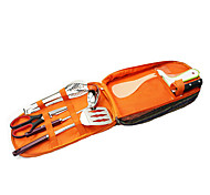 Stainless Steel Camping Eating Utensil Set Sets Camping Hiking Traveling Outdoor Picnic
