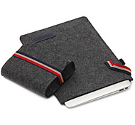 For Apple MacBook Air/Pro 13.3 15.4 Inch Sleeves with Charger Pack Laptop Bag Felt Simple Leisure Style Notebook Bag Solid Color