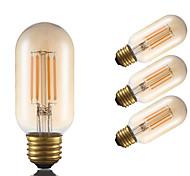 3.5 E26 LED лампы накаливания T 4 COB 300 lm Янтарный Регулируемая Декоративная AC 110-130 V 4 шт.