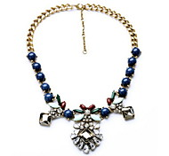 Women's Choker Necklaces Statement Necklaces Jewelry Gemstone Alloy Jewelry Fashion Personalized Euramerican Dark Blue JewelryParty