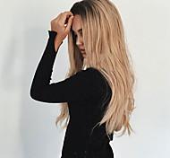 жен. Парики из искусственных волос Без шапочки-основы Длиный Волнистые Черный / Клубника Blonde Волосы с окрашиванием омбре Темные корни