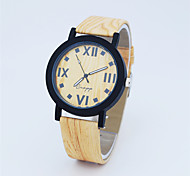 Fashion Watch Quartz Leather Band Casual Brown