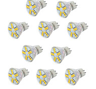 10pcs 3.5W MR11 15XSMD5730 Light Spotlight Bulbs Cool/Warm White Halogen Bulbs Equivalent(12V)