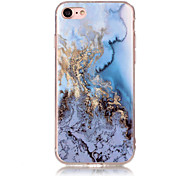 Marble Ocean Blue Pattern Soft TPU Phone Case Cover for iPhone 5 55 SE 6 6 Plus 7 7 Plus