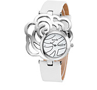 Fashion Watch Quartz Leather Band Casual White Red Gold Gold White Red
