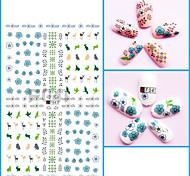 1pcs Nail Art 3D Sticker Beautiful Flower Feather Charming Color Cartoon Design Nail Stickers Manicure Makeup Beauty Nail Art Design F041-049