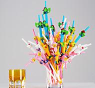 цветной Стаканы, # ml Одноразового использования Пластик Газированные напитки Вода Соломинки
