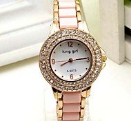 Women's Fashion Watch Quartz Leather Band Pink Brand