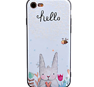 For Apple iPhone7 7 Plus 6s 6 Plus Case Cover Rabbit Bee Pattern Painted Relief Thicker TPU Material Phone Case