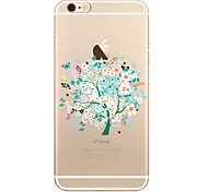 For Transparent Pattern Case  Tree Soft TPU for Apple iPhone 7 Plus iPhone 7 iPhone 6 Plus 6 iPhone 5 SE 5C iphone 4