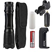 UKing ZQ-X949#1-US CREE XML T6 2000LM Adjustable Focus Flashlight Torch Kit with Battery and Charger