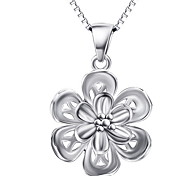 Pendants Basic Design  Flower Style Sterling Silver