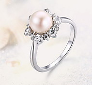 Ring Silver Pearl Fashion Silver Jewelry Daily Casual 1pc