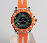Women's Fashion Watch Quartz / Silicone Band Cartoon Casual Orange Brand