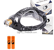 U'King® ZQ-X839GO#4 2* CREE XPE Natural/ UV Purple 4Mode Zoomable Multifunction Headlamp Bicycle Light Kit
