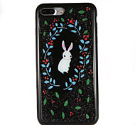 For Glitter Shine Case Soft TPU Drop Glue Rabbit Back Case for Apple iPhone 7 Plus iPhone 7 iPhone 6s Plus iPhone 6 Plus iPhone 6s iPhone 6