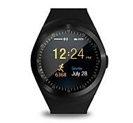 mtk626 IPS pantalla circular vigilancia de la salud tarjeta podómetro para seguir el movimiento de empujar la información del reloj del