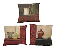 Set of 4 Retro furniture  pattern Linen Pillowcase Sofa Home Decor Cushion Cover