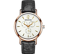 Men's Fashion Casual Simple Business Wrist Watch Quartz Leather Band Cool Watch Unique Watches For Men Gift