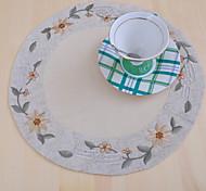 Круглый Вышивка Салфетки-подстилки Бирдекели , 100% хлопок материал Ужин Декор Фавор