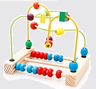 Wooden Balls Wear Bead Toys Educational Toy Leisure Hobby Toys Novelty Sphere Wood Rainbow For Boys For Girls