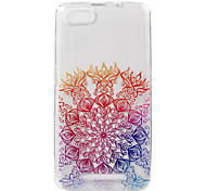 For WIKO LENNY3 Case Cover Lucky Flower Painted Pattern TPU Material Phone Case
