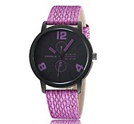 Unisex Fashion Watch Quartz Leather Band Black White Blue Purple