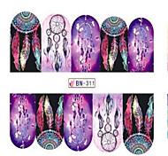 1pcs Fashion Beautiful Dream Mesh Decoration Nail Art Sticker Water Transfer Decals Nail Beauty Design Optional BN301-312