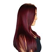 100g / pc человеческие волосы тела 10-14inch красное вино 99j человеческие волосы переплетаются