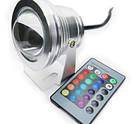 RGB 10W Led Underwater Lamp IP68 12 Color with IR Remote Swimming Pool light Aquarium Spotlight DC12V