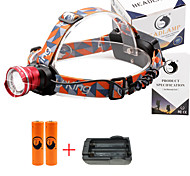 U'King® ZQ-X830R#2-EU CREE XML-T6 LED 2000LM Zoomable 180 Rotate 3Modes Headlamp Bike Light Kits with Rear Safety LED