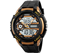 Men's Women's Sport Watch Wrist watch Digital Watch LED Calendar Water Resistant / Water Proof Dual Time Zones Alarm StopwatchDigital