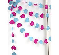 raylinedo® 1 Stück 4 Meter Rose und blaue Farbe Papiergirlande für Hochzeit Geburtstag Partei Weihnachten Mädchen Raumdekoration Herzform