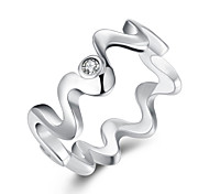 Inlaid Waves Ring 925 Jewelry Silver Plated RingHigh Quality Fashion Jewelry Nickle freeAntiallergic R029