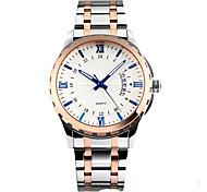 Men's Dress Watch Quartz Stainless Steel Band Silver
