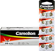 Camelion AG13 Coin Button Cell Alkaline Battery 1.5V 100 Pack