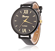 Fashion Watch Quartz Leather Band Casual Black White Blue Red Green Pink Yellow Strap Watch