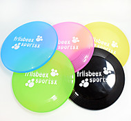 Cat Toy Dog Toy Pet Toys Interactive Flying Disc Durable Nobbly Wobbly Candy Cartoon Cat Footprint Plate Black Green Blue Pink Yellow