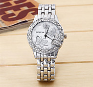 Men's Fashion Watch Quartz Alloy Band Casual Silver Gold Rose Gold Rose Gold Silver Gold