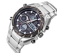 Мужской Спортивные часы Наручные часы Японский Кварцевый LCD Календарь Секундомер Защита от влаги С двумя часовыми поясами тревога