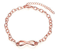 Exquisite Rose Gold Plated Sweet 8 Style Chain & Link Bracelets Jewellery for Women Accessiories