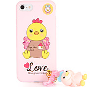 For Pattern DIY Case Back Cover Case 3D Cartoon Soft TPU for Apple iPhone 7 Plus iPhone 7 iPhone 6s Plus iPhone 6 Plus iPhone 6s iPhone 6