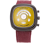 JUBAOLI Men's Sport Watch Quartz Fabric Band Black